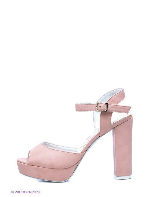 Босоножки Oodji                                                                                                              розовый цвет