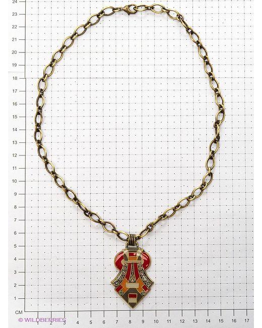 Колье Clara Bijoux                                                                                                              красный цвет