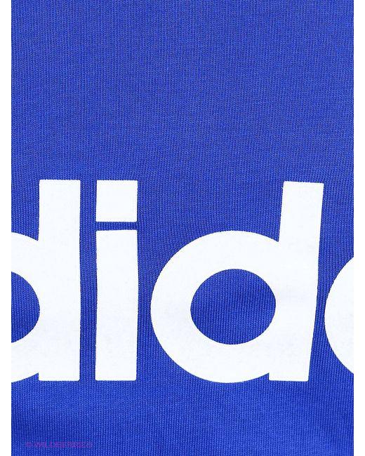 Футболка Adidas                                                                                                              синий цвет