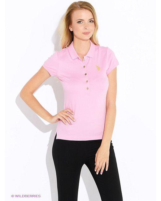 Футболки-Поло U.S. Polo Assn.                                                                                                              розовый цвет