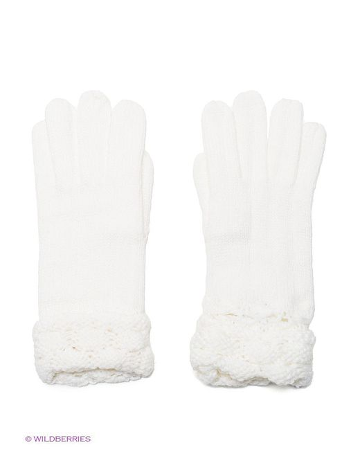 Перчатки Oodji                                                                                                              белый цвет