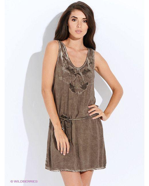 Платья GARCIA                                                                                                              коричневый цвет
