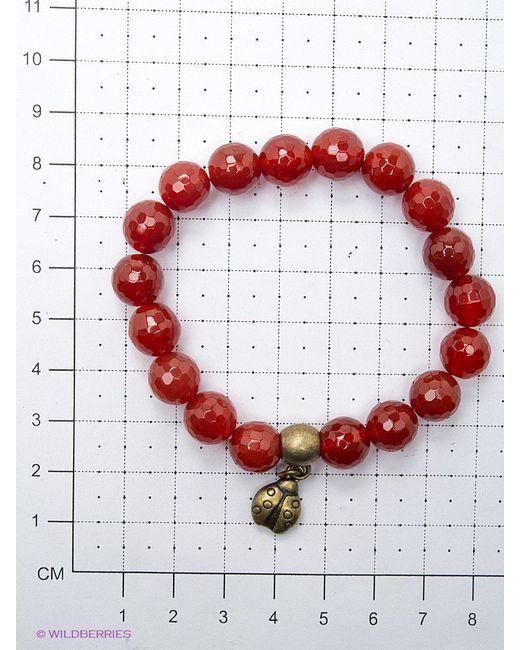 Браслеты Polina Selezneva                                                                                                              красный цвет