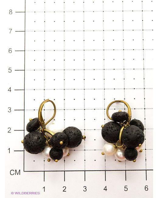 Серьги Polina Selezneva                                                                                                              чёрный цвет