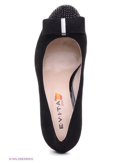 Туфли Evita                                                                                                              чёрный цвет