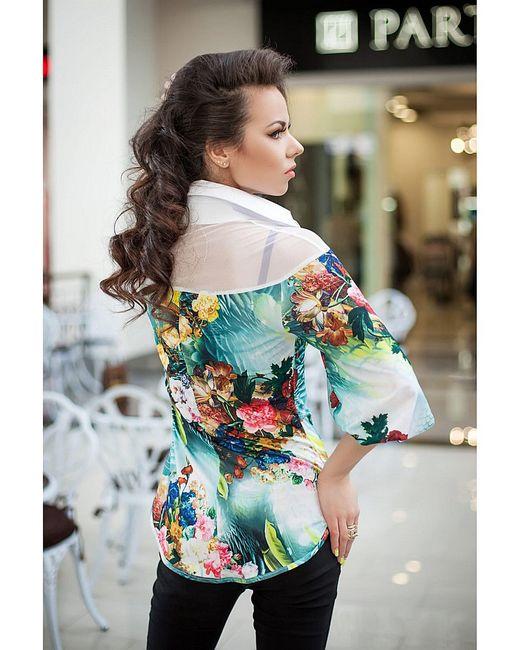Блузки Vision Fashion Srore                                                                                                              Бирюзовый цвет