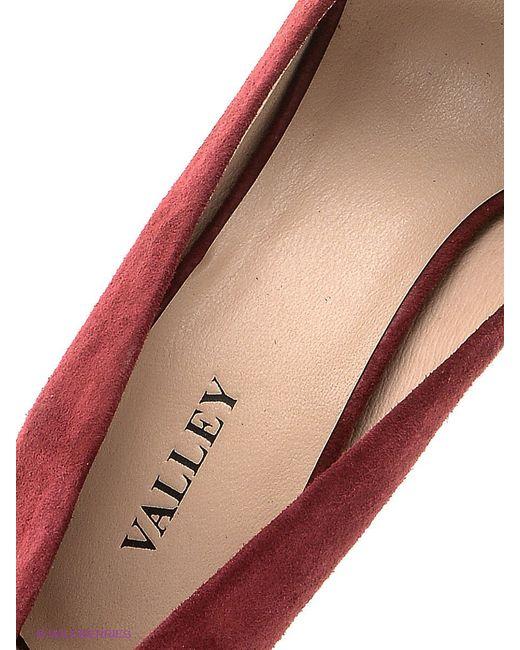 Туфли Valley                                                                                                              красный цвет