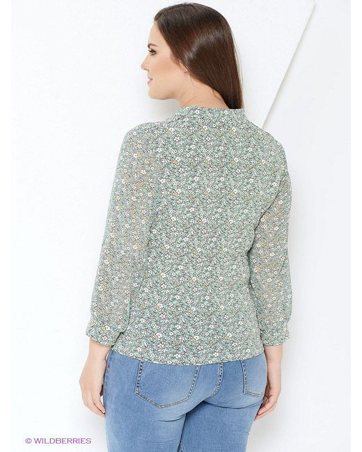 Блузки Milana Style                                                                                                              зелёный цвет