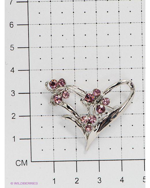 Броши Bijoux Land                                                                                                              розовый цвет