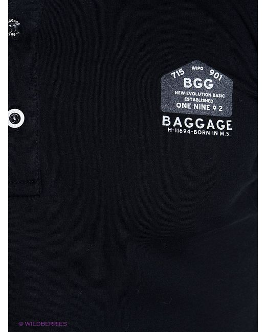 Лонгсливы BAGGAGE                                                                                                              чёрный цвет