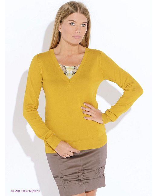 Пуловеры Oodji                                                                                                              Горчичный цвет