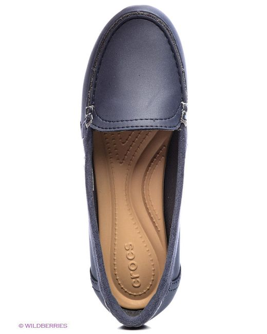 Мокасины Crocs                                                                                                              синий цвет