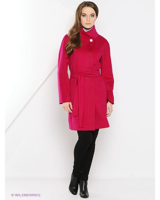 Пальто Estrade                                                                                                              Малиновый цвет