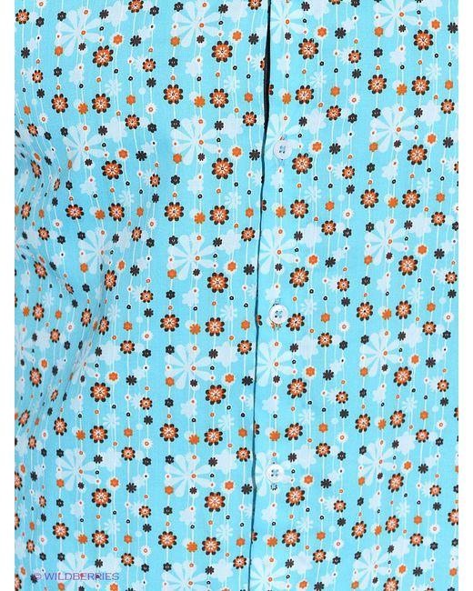 Рубашки Mondigo                                                                                                              Бирюзовый цвет