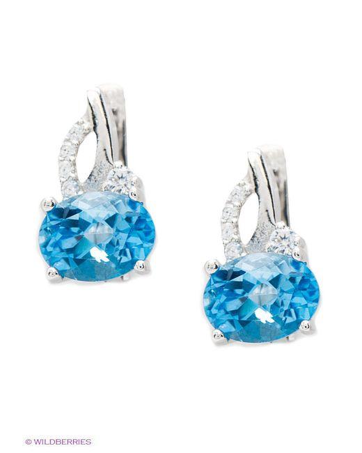 Ювелирные Серьги Silver Wings                                                                                                              голубой цвет