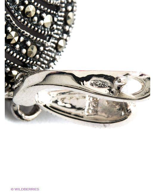 Ювелирные Серьги Silver Wings                                                                                                              коричневый цвет