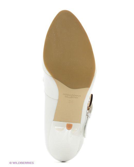 Туфли Moda Donna                                                                                                              белый цвет