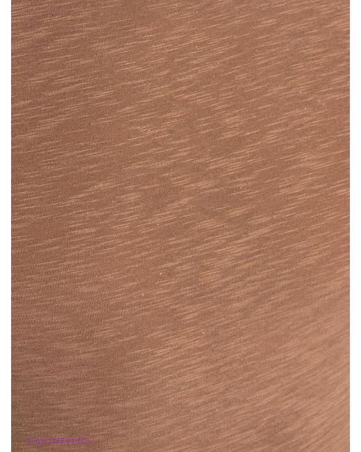 Футболка D.S                                                                                                              коричневый цвет