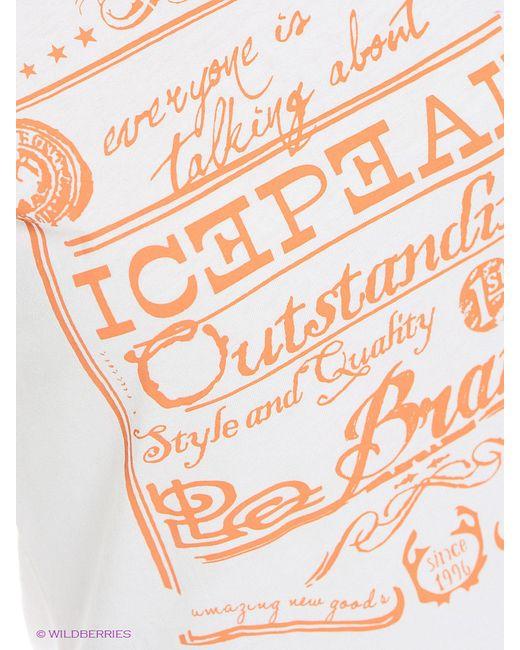 Футболка Icepeak                                                                                                              белый цвет