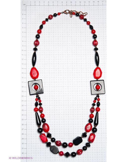 Колье Роман с камнем                                                                                                              красный цвет
