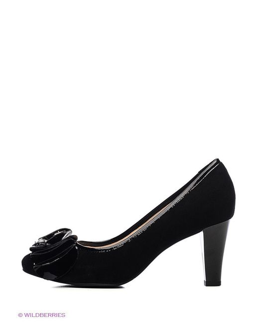 Туфли Moda Donna                                                                                                              чёрный цвет