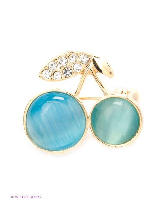 Броши Lovely Jewelry                                                                                                              голубой цвет