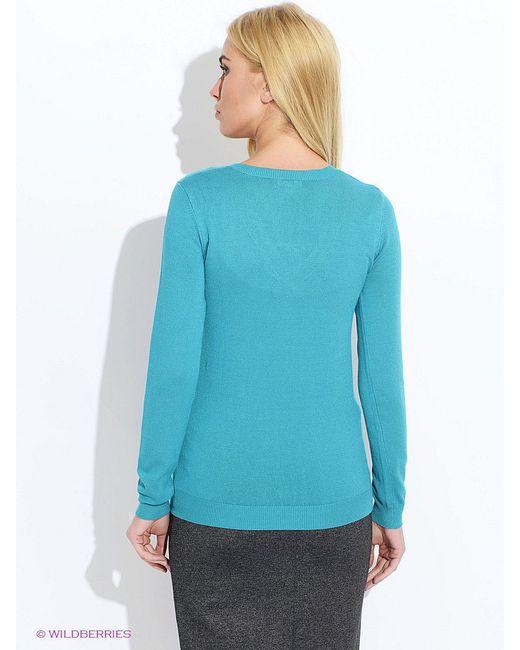 Пуловеры Oodji                                                                                                              Бирюзовый цвет