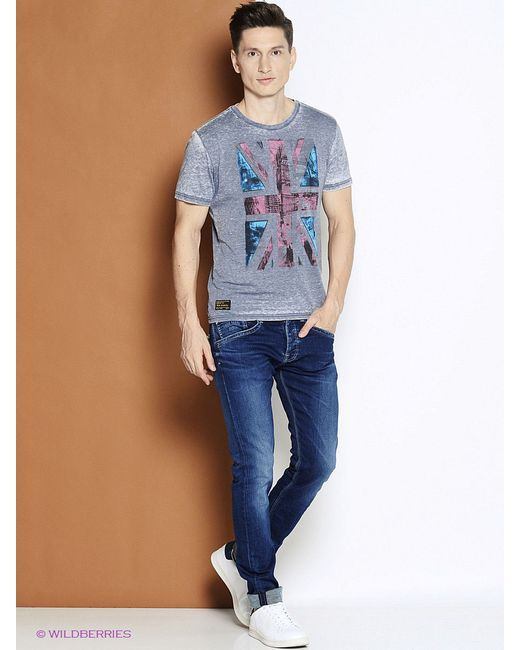 Футболка Pepe Jeans London                                                                                                              синий цвет