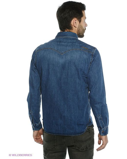 Рубашки Dairos                                                                                                              синий цвет