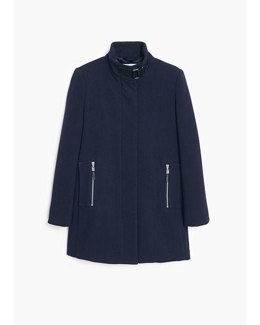Пальто Mango                                                                                                              синий цвет