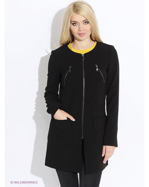 Пальто MOTIVI                                                                                                              чёрный цвет