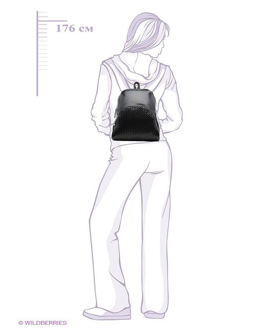 Рюкзаки Vitacci                                                                                                              чёрный цвет