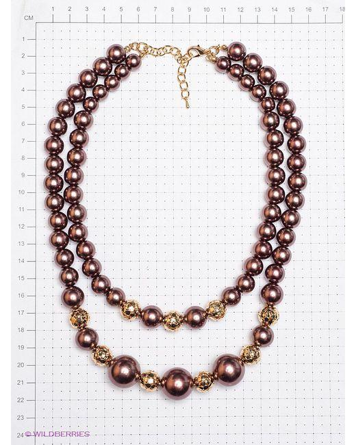 Колье Lovely Jewelry                                                                                                              коричневый цвет
