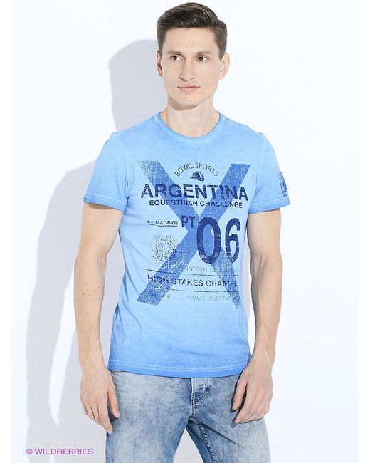 Футболка TOM TAILOR                                                                                                              синий цвет