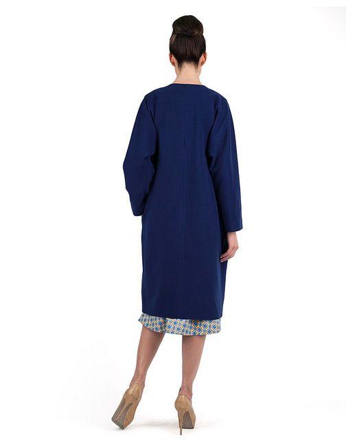 Пальто Vika Smolyanitskaya                                                                                                              синий цвет