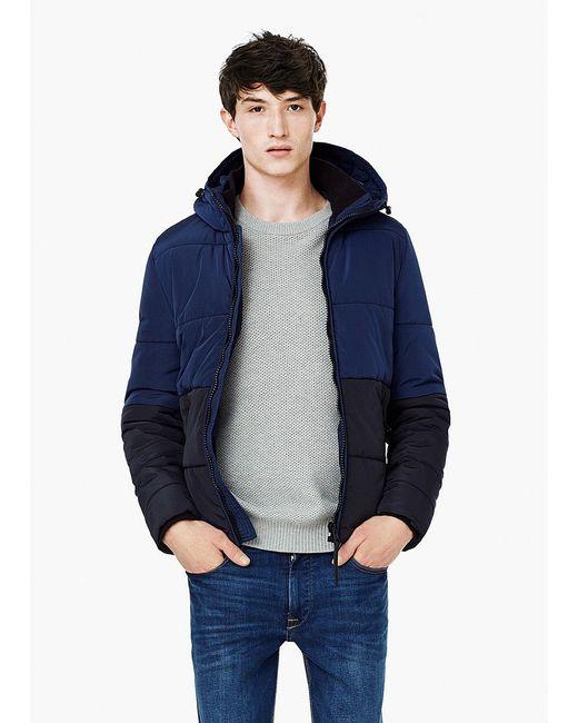 Куртки Mango Man                                                                                                              синий цвет