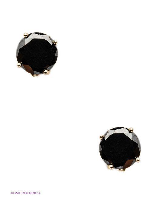 Серьги Happy Garnets                                                                                                              чёрный цвет