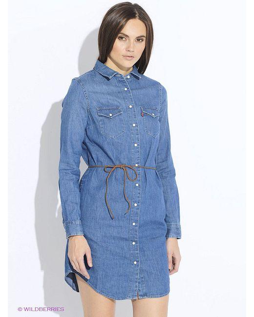 Платья Levi's®                                                                                                              голубой цвет