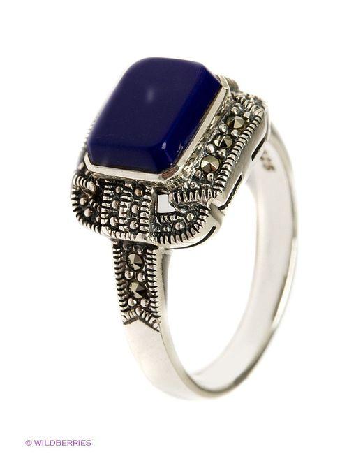 Ювелирные Кольца МАРКАЗИТ                                                                                                              синий цвет