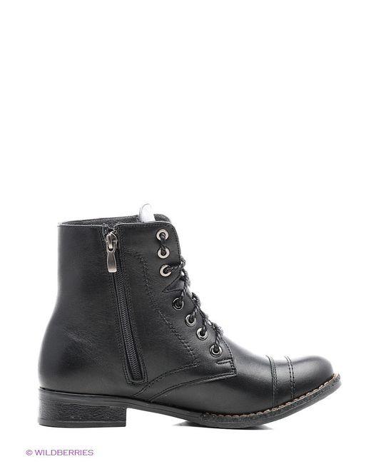 Ботинки ЭГО                                                                                                              чёрный цвет