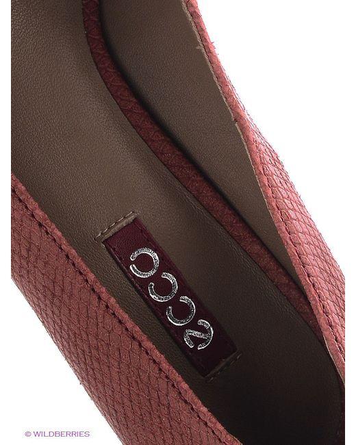 Туфли Ecco                                                                                                              красный цвет
