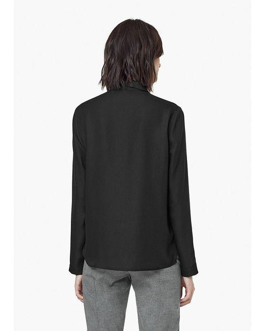 Блузки Mango                                                                                                              чёрный цвет