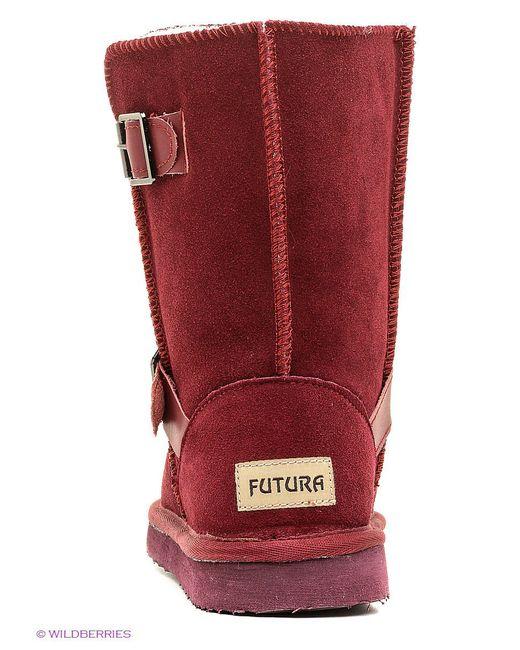 Угги Futura                                                                                                              красный цвет