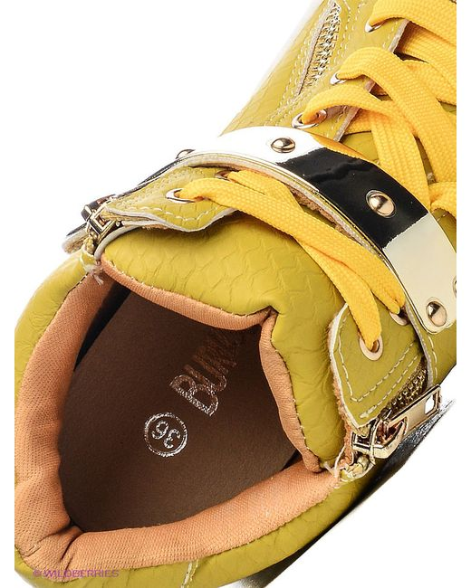 Сникеры Burlesque                                                                                                              желтый цвет