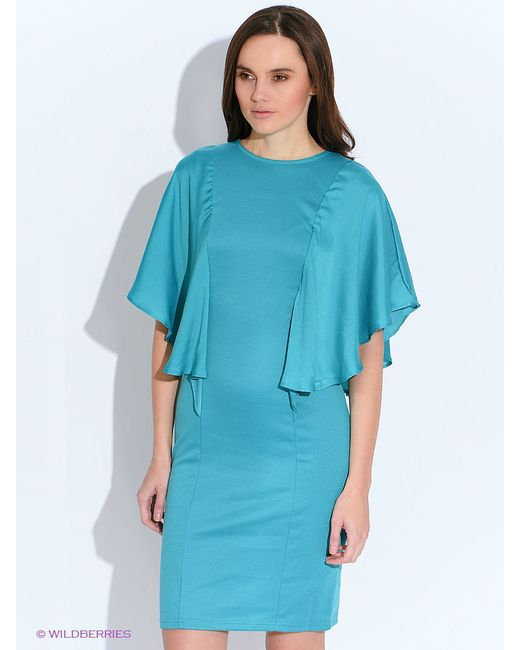 Платья Oodji                                                                                                              Бирюзовый цвет