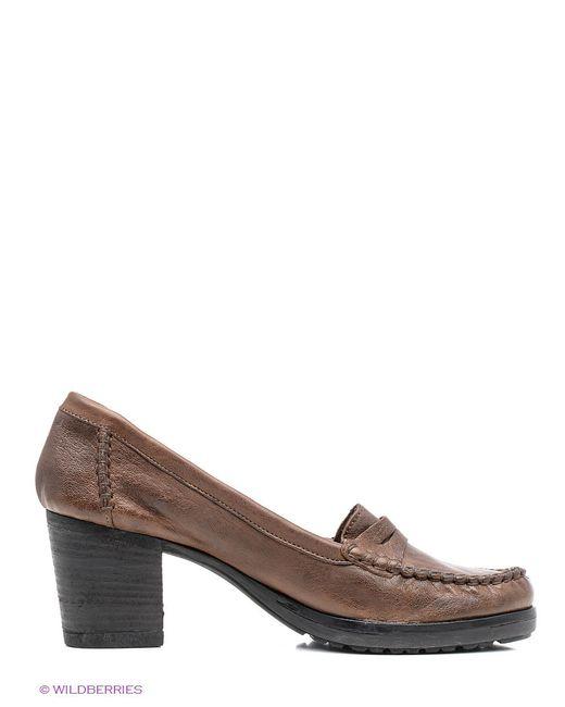 Туфли JUST COUTURE                                                                                                              коричневый цвет