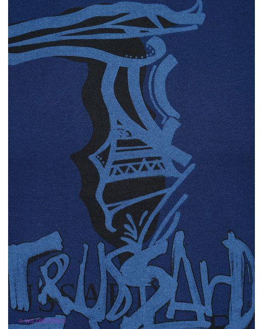 Футболка Trussardi                                                                                                              синий цвет