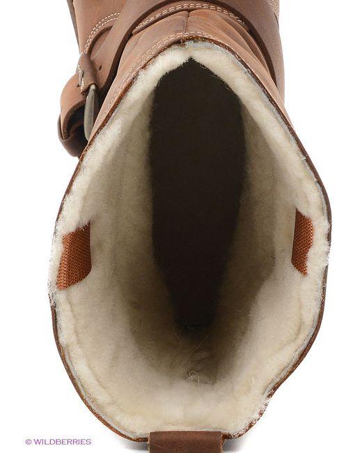 Полусапожки Ecco                                                                                                              коричневый цвет