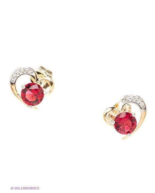 Серьги Lovely Jewelry                                                                                                              красный цвет