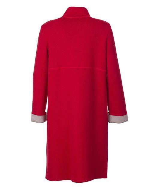 Пальто Piero Moretti                                                                                                              красный цвет